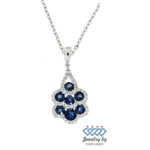 Birthstone Diamond Fine Pendant Jewelry White Gold